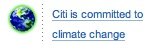 Citi is committed to climate change