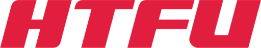 'HTFU' in the style of the SRAM logo