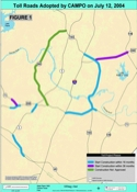 Proposed tollroads map